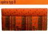 Rohová lavice - Typ čalounění B - výška lavice 84cm