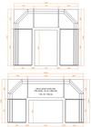 Rohová lavice - Výpočet velikosti stolu - NÁKRES